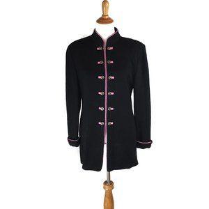 St. John Collection Black Sweater Jacket Size 14